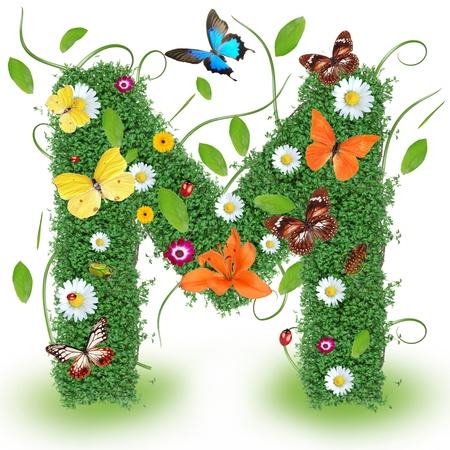 "primavera: Carta primavera Beautiful ""M"""