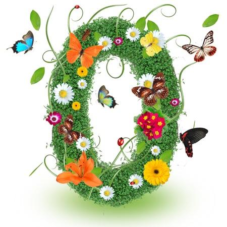 "alfabeto con animales: Carta primavera Beautiful ""O"" Foto de archivo"