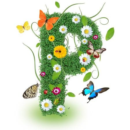papilio: Beautiful spring letter P