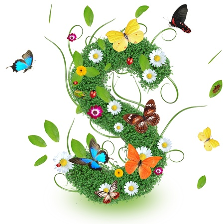 Beautiful spring letter  S   photo