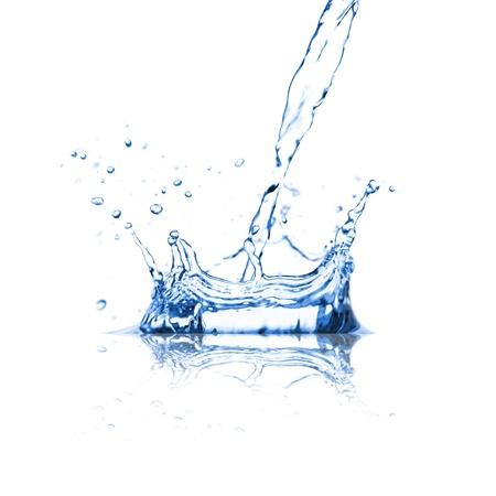 Water splash over white Stock Photo - 14890064