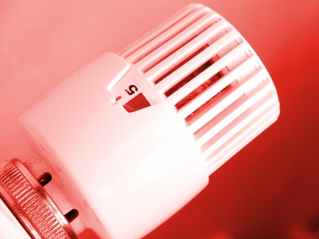 Heating radiator with regulator Stock Photo - 14890112