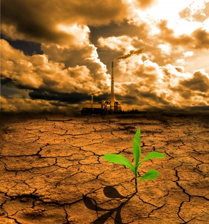 cracked earth: Cracked pollution ground