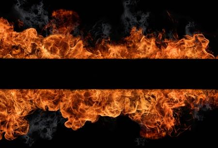 gas fire: Fire flames Stock Photo