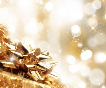 christmas lights background: Christmas gift