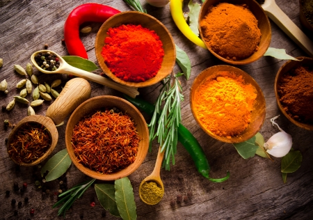 additives: Assorted spices with fresh herbs