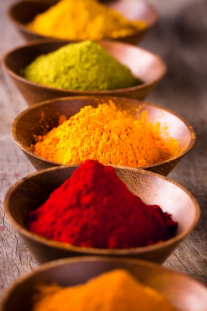 food additives: Assorted spices Stock Photo