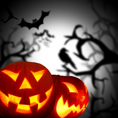 scary pumpkin: Scary Halloween background