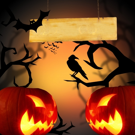 Scary Halloween background photo