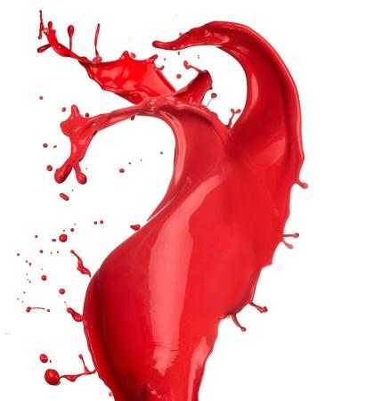 splash paint: Colored paint splash isolated on white background Stock Photo