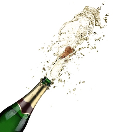 Close-up of champagne explosion Stock Photo - 15545073