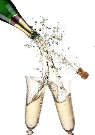 Paire de flûtes à champagne faire un plongeon Champagne