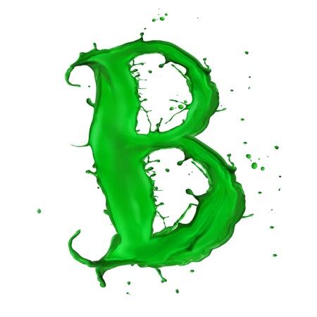 macabre: Green Liquid alphabet letter B