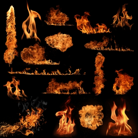 flametongue: The biggest fire flame collection Stock Photo