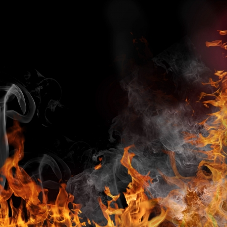 ignite: Fire flame background Stock Photo