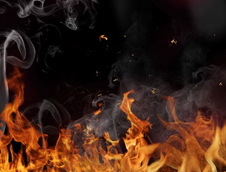 engulfed: Fire flame background Stock Photo