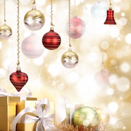 crystal bowl: Christmas background