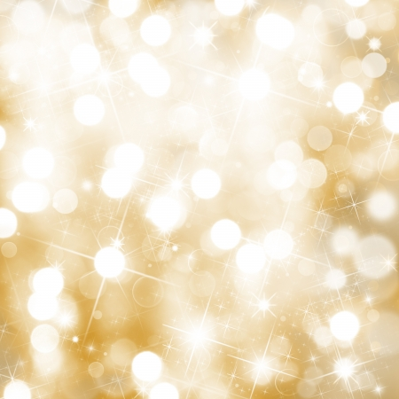 love gold: Abstract Christmas background Stock Photo