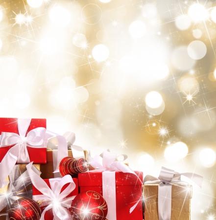 cajas navide�as: De fondo de Navidad Foto de archivo