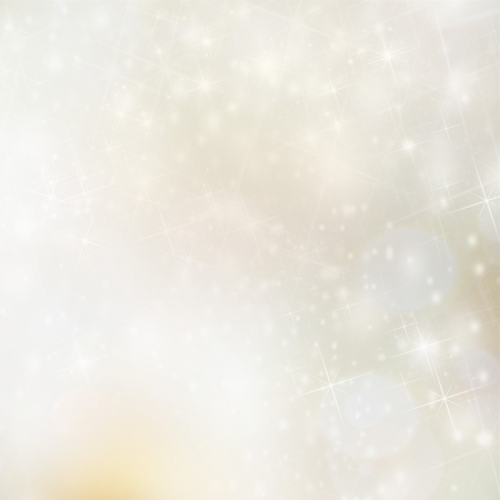 Christmas background with blur golden lights photo