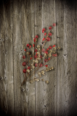 inducement: Old wooden background with christmas inducement