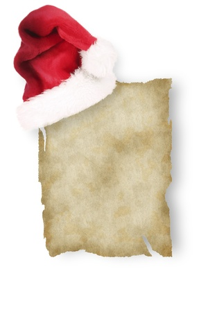 inducement: Old paper with christmas inducement Stock Photo