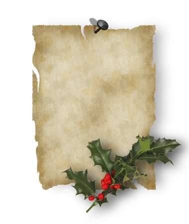 Old paper with christmas inducement Stock Photo - 15885726