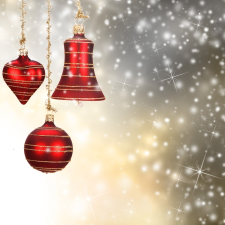 Red christmas decorations photo
