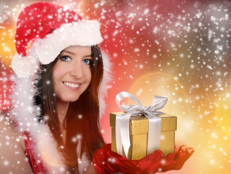 Beautiful santa girl photo