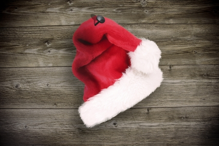 inducement: Old wood with christmas inducement Stock Photo