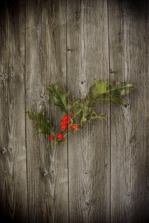 inducement: Old wooden background with christmas inducement paint