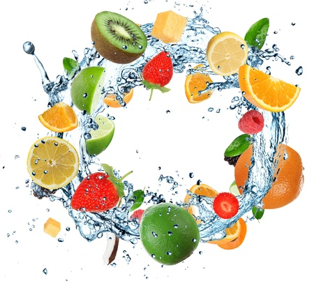 abstract fruit: Fruit in water ring