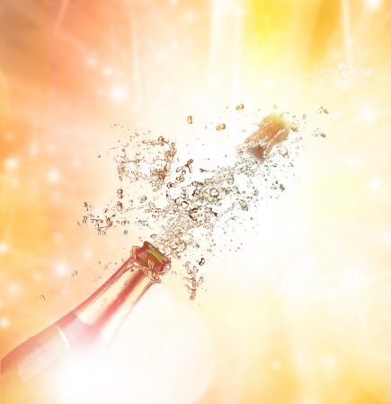 Close-up of champagne explosion Stock Photo - 16196499