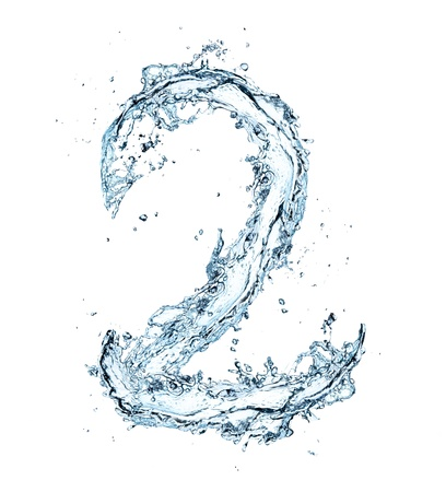 water ripples: Number of water alphabet  Stock Photo