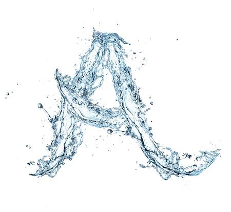 Letter of water alphabet Zdjęcie Seryjne - 16196625