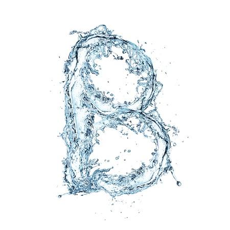 ripple effect: Letter of water alphabet