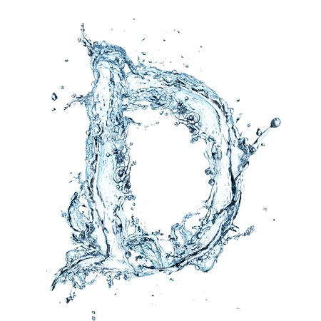 D: Letter of water alphabet