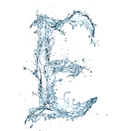 bubble letters: Letter of water alphabet