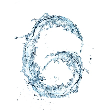 liquid g: Letter of water alphabet