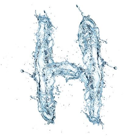 Letter of water alphabet Zdjęcie Seryjne - 16196804