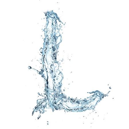 Lettera di alfabeto acqua