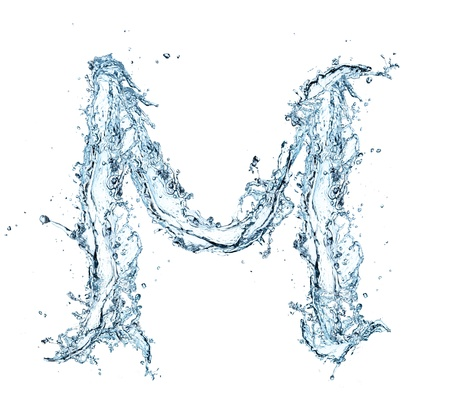 letter liquid water: Carta del alfabeto de agua Foto de archivo
