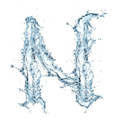 macro nature: Letter of water alphabet