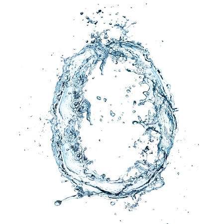 water paint: Letter of water alphabet