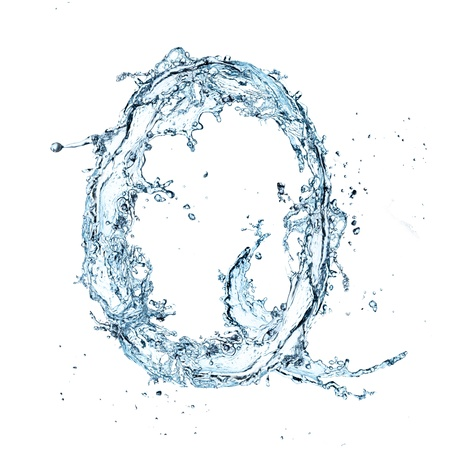 letter q: Letter of water alphabet