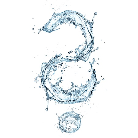 question mark background: Water Question mark Stock Photo
