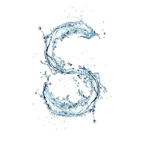 Letter of water alphabet Zdjęcie Seryjne - 16196698