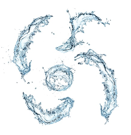 Special symbols of water alphabet  Stock Photo - 16196777