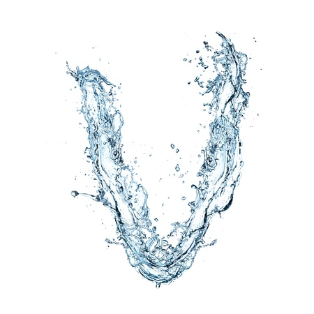 Letter of water alphabet  Stock Photo - 16196614