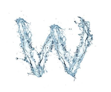 carta de agua liquida: Carta del alfabeto de agua Foto de archivo